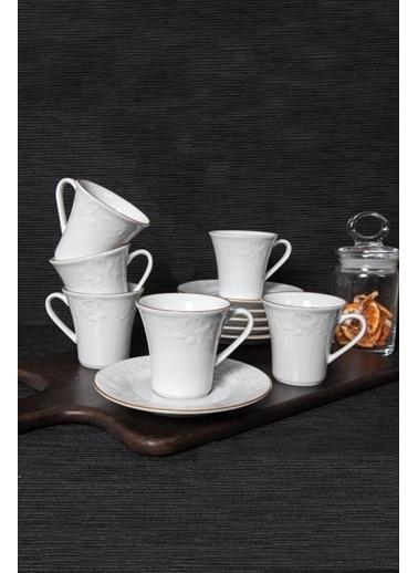 Güral Porselen Güral Porselen Bahar Dalı Kahve Fincan Takımı BHD12KT23 Renkli